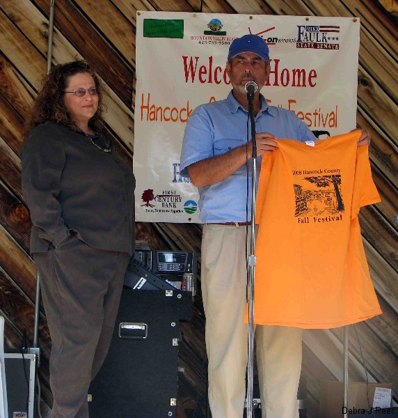 Debra J Reed presented award for T-Shirt Design