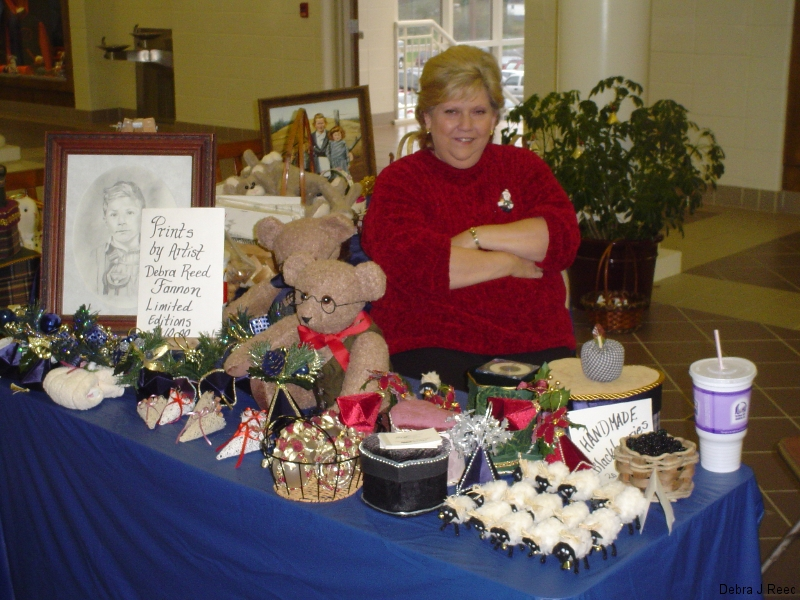 Jefferson City Christmas Craft Fair with my aunt, Linda Mathis