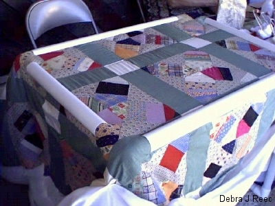 Great Grandma\'s Quilt-top I am quilting Circa 1930.