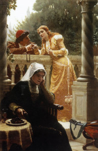 Edmund_Blair_Leighton_-_A_Stolen_interview