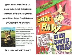 Snee Haw Program June 13 2015