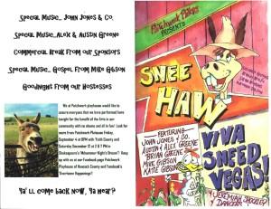 Snee Haw Program June 13 2015